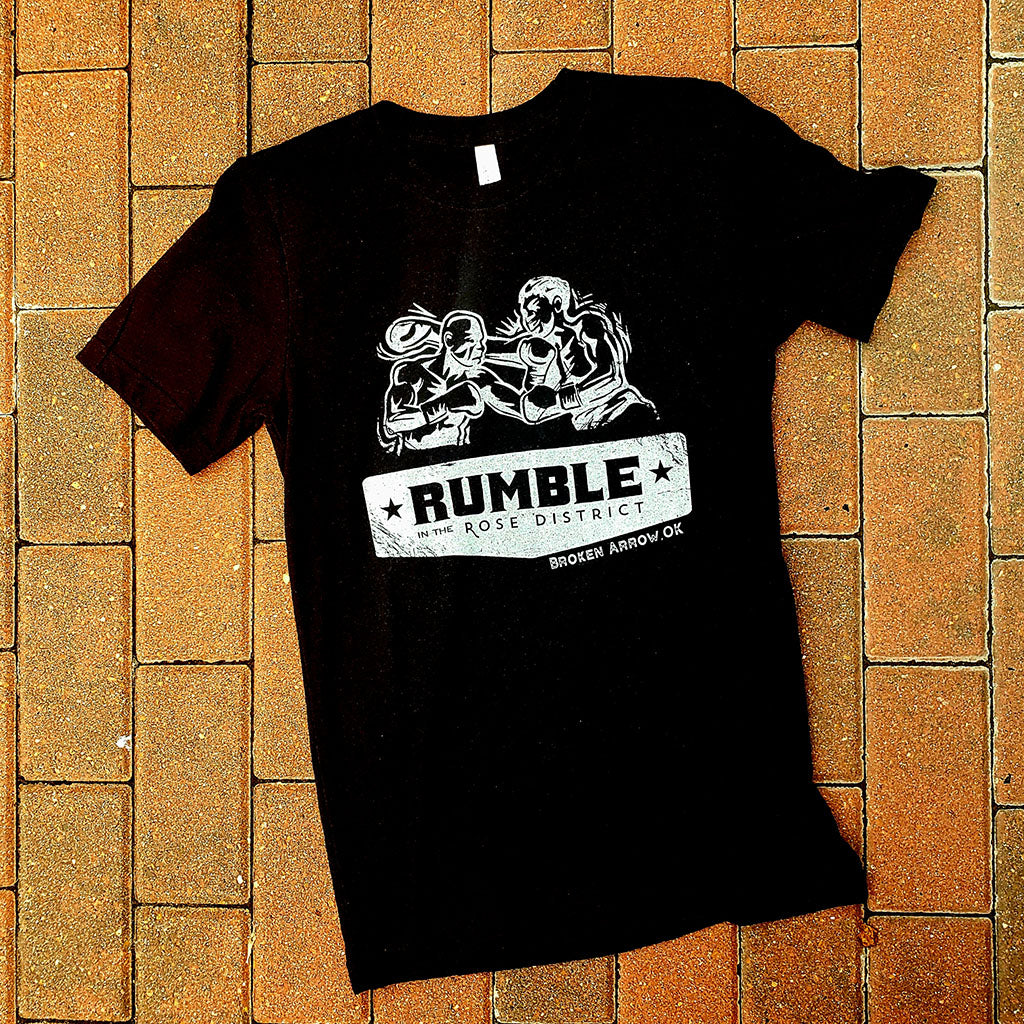 Rumble in the Rose District Official Heather Black Tee