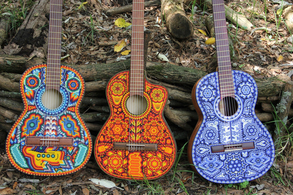 Guitarras Pamparyus Corchea Huichol