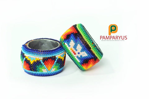 Huichol Beaded Napkin Holder Arte Huichol - Pamparyus