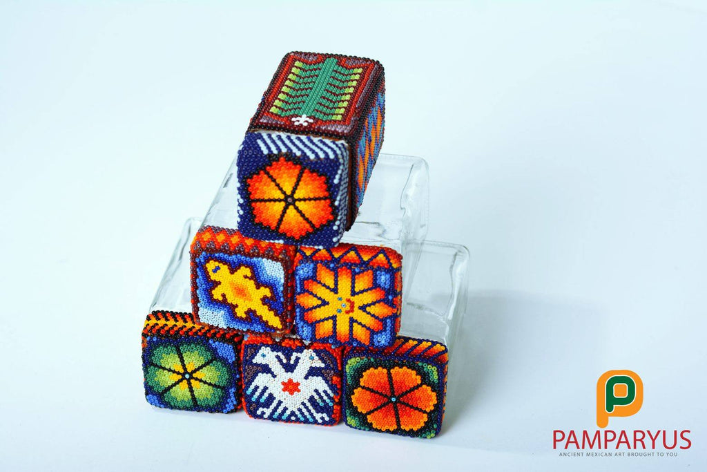 Huichol Beaded Species Container Arte Huichol - Pamparyus