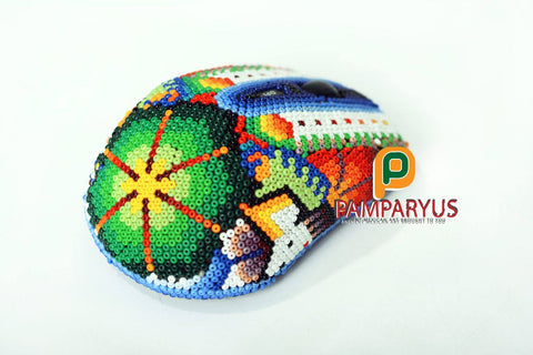 Huichol Beaded Wireless mouse Arte Huichol - Pamparyus