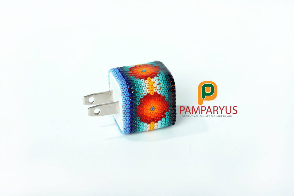 Huichol Beaded USB Charger 12 to 24 vdc Arte Huichol - Pamparyus