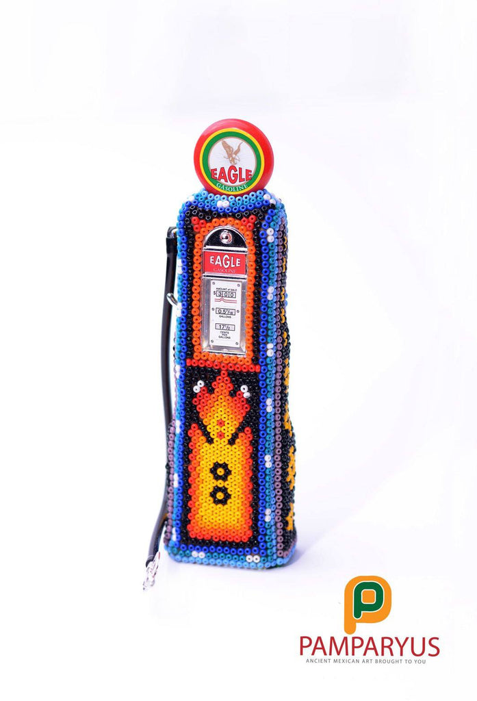 Huichol Beaded Mini Gas Station Arte Huichol - Pamparyus