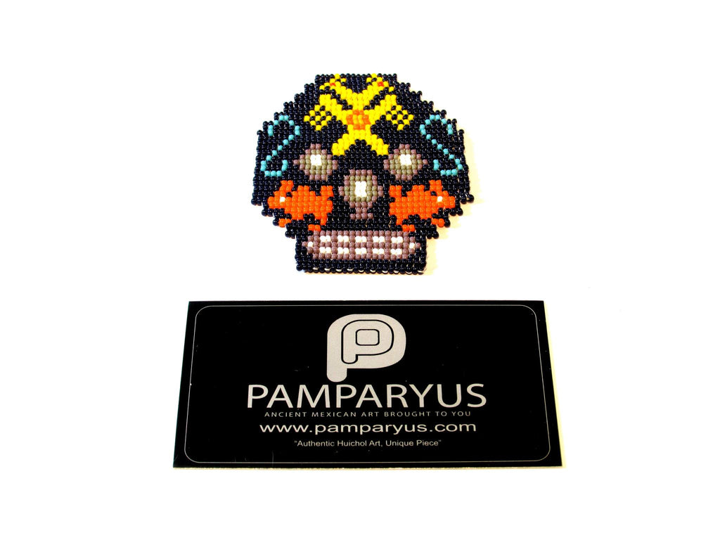Skull Patch Arte Huichol - Pamparyus