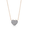 Diamond Full Heart Necklace (Black Prongs)
