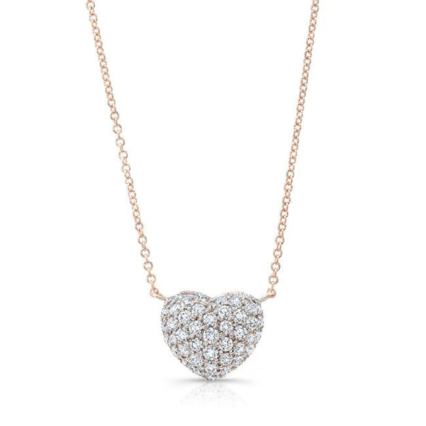Diamond Full Heart Necklace