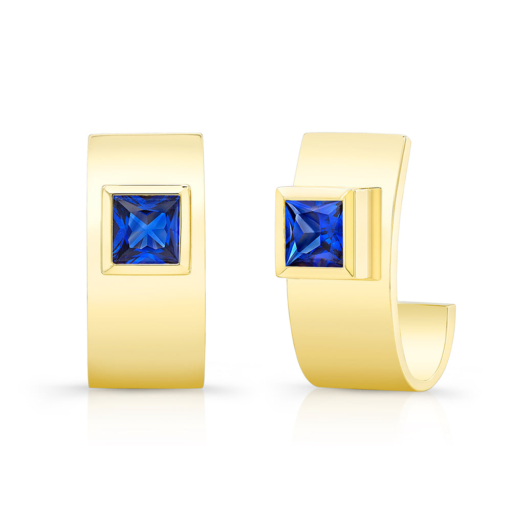 Sapphire Forever Earrings - Yellow Gold