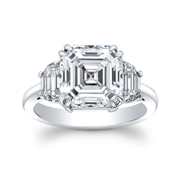 5.5 carat Asscher Cut Ring