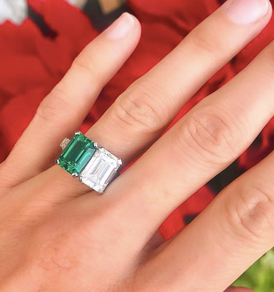 Bespoke Emerald and Diamond Ring