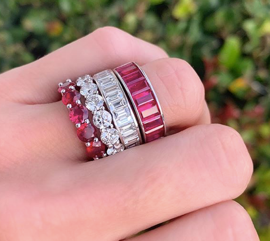 Large Ruby Eternity Ring