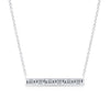 Classic Diamond Bar Necklace