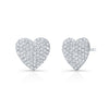 Diamond Heart Earring- Pink Gold