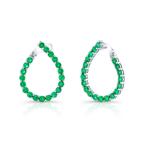 Emerald Teardrop Earring
