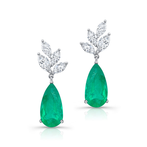 Bespoke Emerald Teardrop Earrings