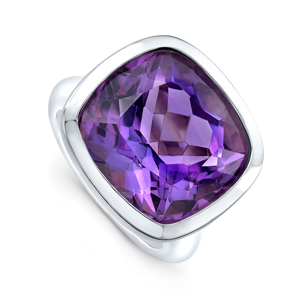 Amethyst Cocktail Ring- white gold