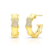Bamboo Earrings with Diamonds