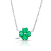 Emerald Four Leaf Clover Necklace