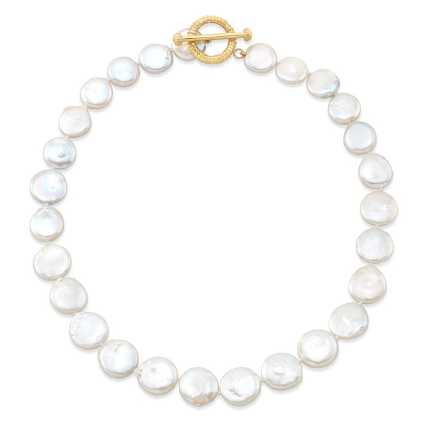 Natural Penny Pearl Necklace