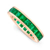 Square Emerald Eternity Ring