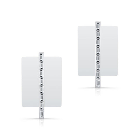 Diamond Skinni Bar Earrings with Jackets