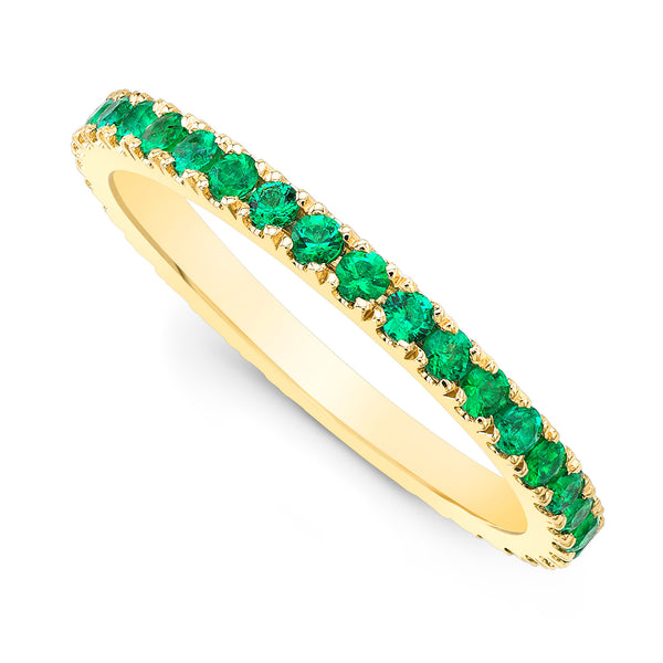 Emerald Pave Eternity Ring