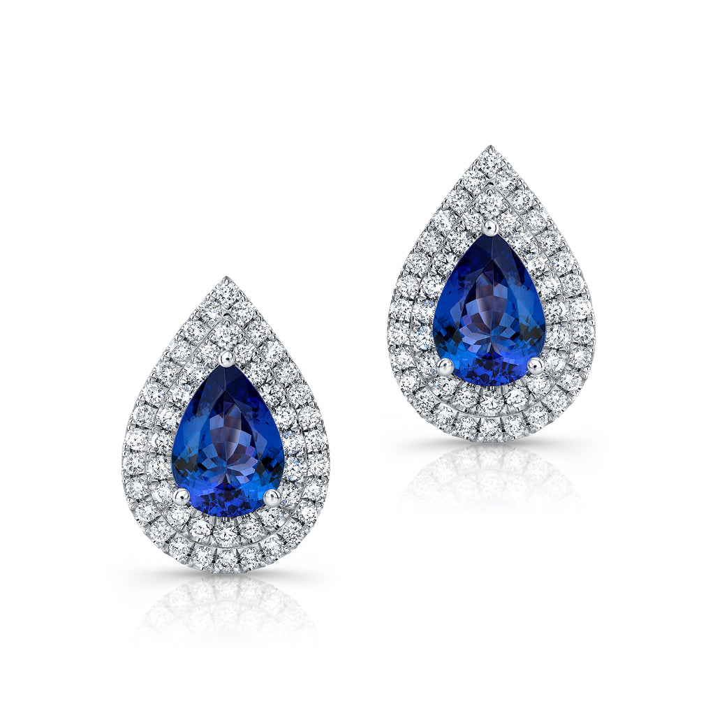 Tanzanite and Diamond Earrings