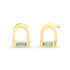 Diamond Stirrup Earrings