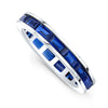 Blue Ceylon Baguette Channel Set Ring