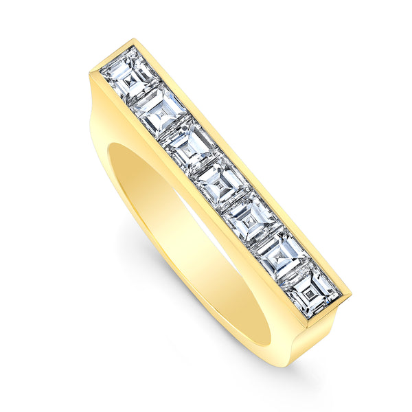 Square Diamond Skinni Ring