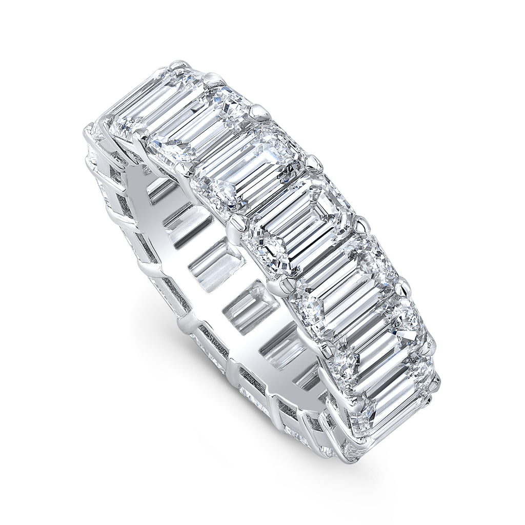 Heirloom Emerald-Cut Diamond Eternity Ring