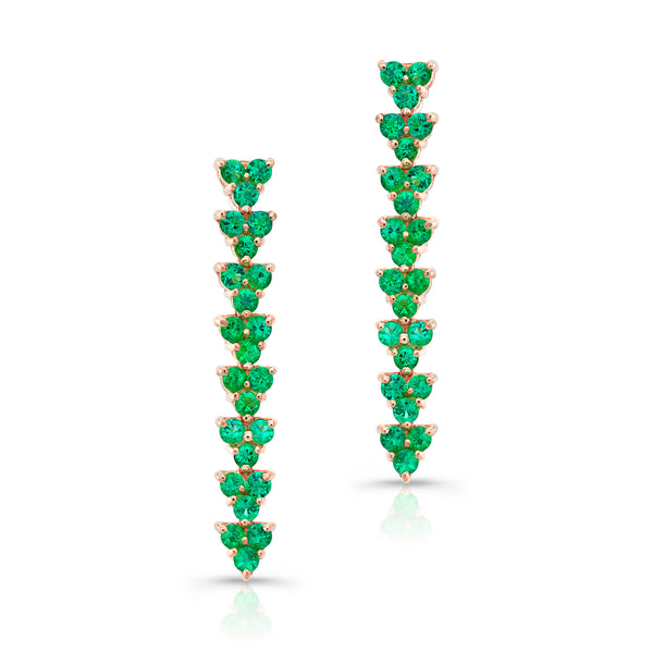 Trilogy Earring- Emerald