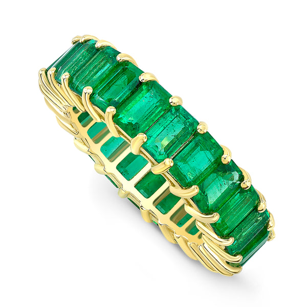 Emerald Cut Emerald Eternity Band