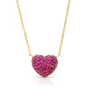 Ruby Full Heart Necklace