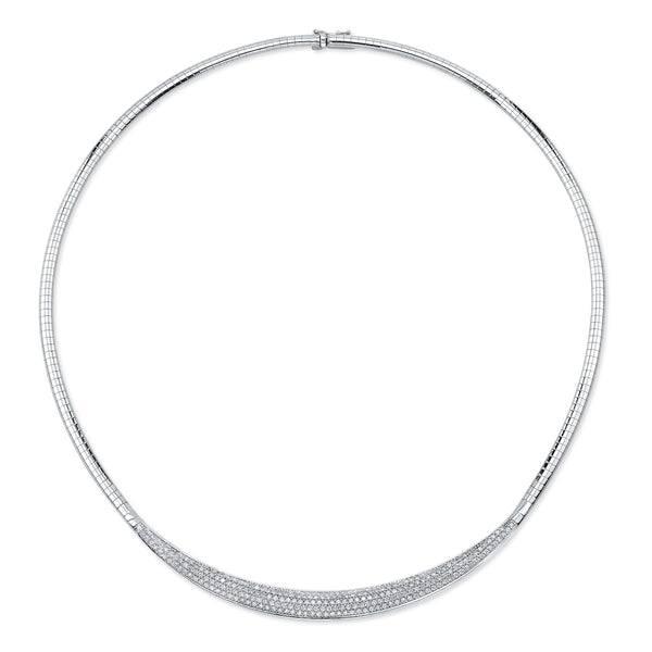 Alexandra Jules Diamond Omega Necklace