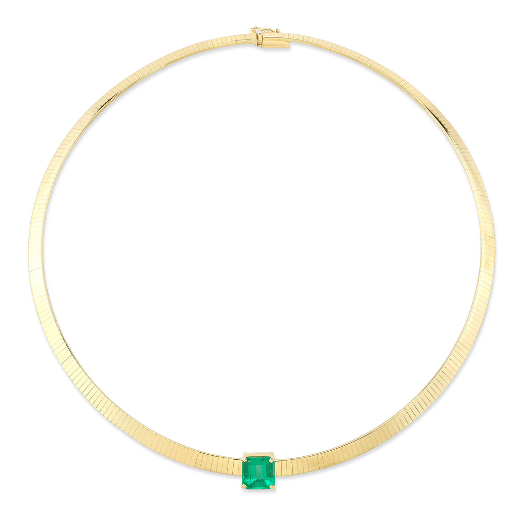 Emerald Omega Necklace