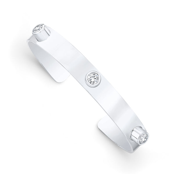 Alexandra Jules Forever Bangle - Round Diamond