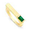 Emerald Matchstick Ring