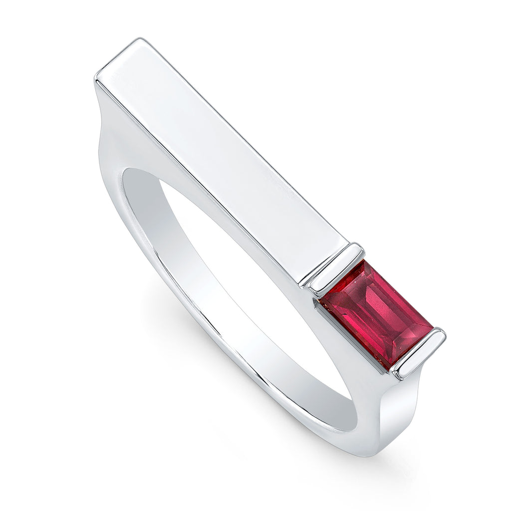 Ruby Matchstick Ring