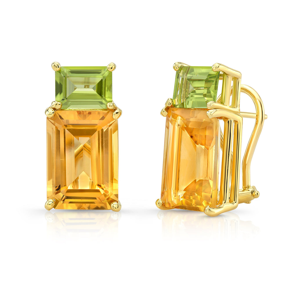 Citrine and Peridot Candy Earrings