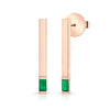 Emerald Matchstick Earrings