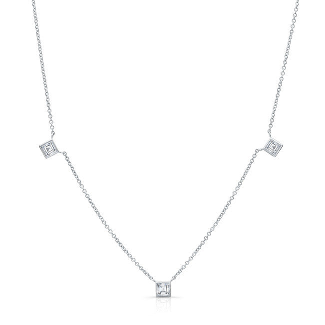 Square Diamond by the Yard Necklace