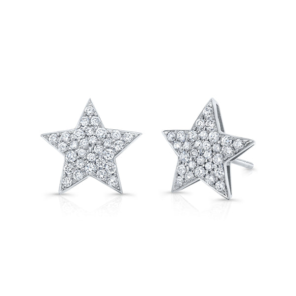 Medium Diamond Star Earrings