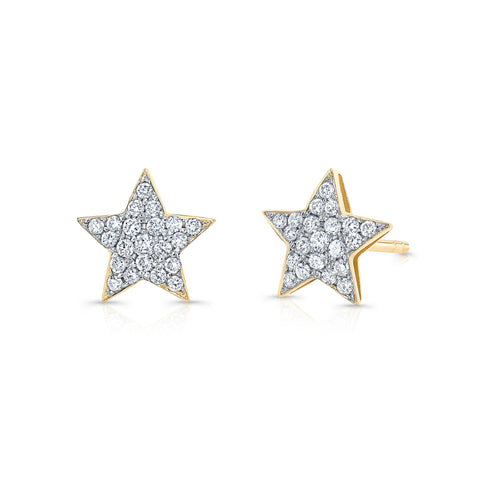 Petite Diamond Star Earrings