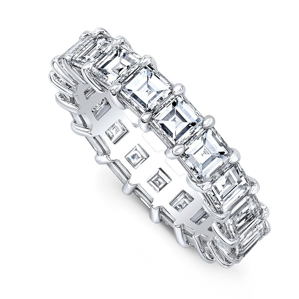 Custom Carre-Cut Diamond Eternity Ring