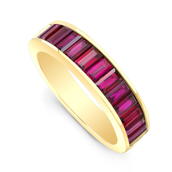 Medium Classic Ruby Baguette Band