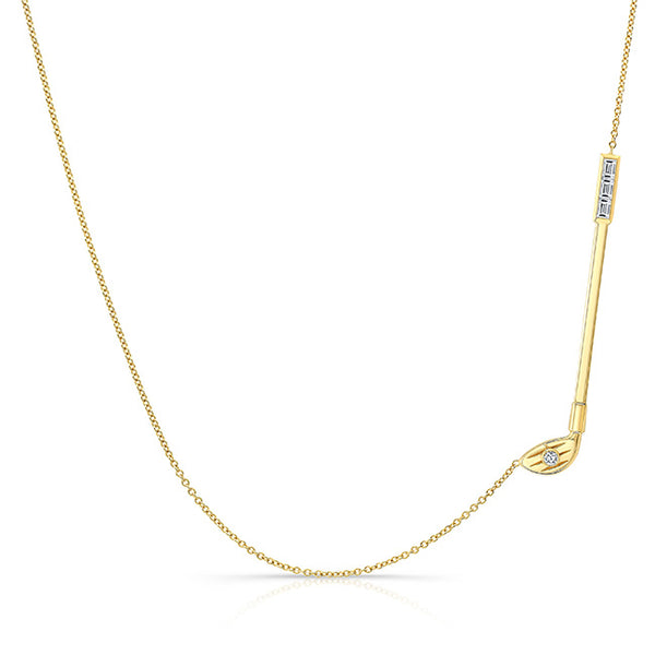 Large Diamond Golf Necklace