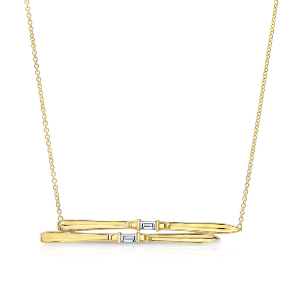 Ski Necklace - Diamond