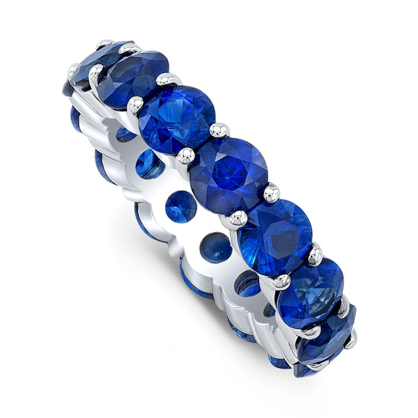 Large Sapphire Eternity Band