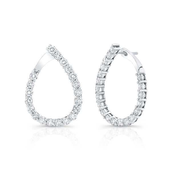 Diamond Teardrop Earring