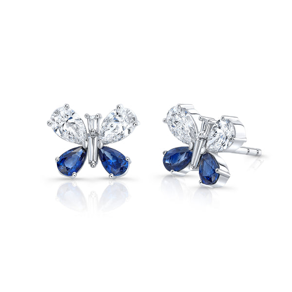 Butterfly Earrings - Sapphire & Diamond